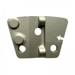 Plaquette PCD gauche - 2 segments demi-ronds 1 mm d'épaisseur pour béton nu.